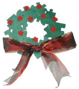 christmas puzzle wreath