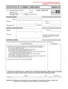 compliance certificate template plumbing compliance certificate template fill