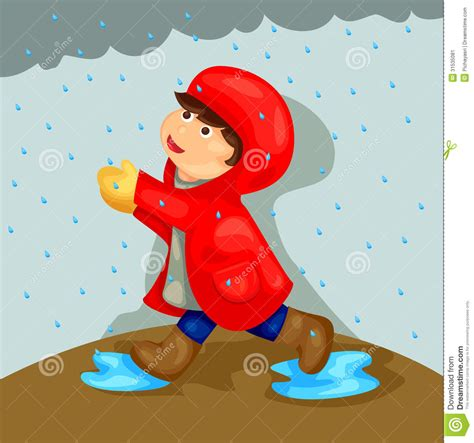 Bathtub Renew Boy Playing In The Rain Stock Image Image 31535081