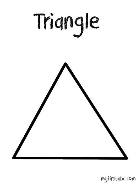 Triangle Coloring Page free coloring pages of tracing triangle