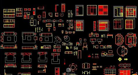Daily furniture CAD Block Set, Autocad Drawing, Autocad
