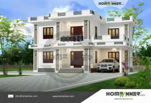 Contemporary House Plan bedroom double storey contemporary house plan indianhomedesign com