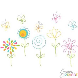 doodlebug clipart clip doodle flowers