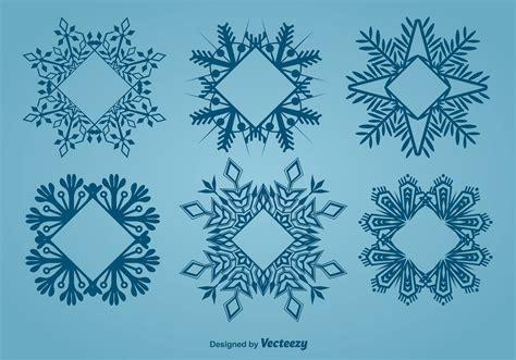 decorative snowflake shaped frames   vectors clipart graphics vector art