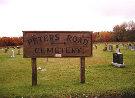 Prince Edward Island Records Peters Road Cemetery County Prince Edward Island