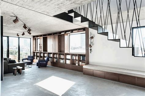 toledanoarchitects refurbishes  duplex penthouse