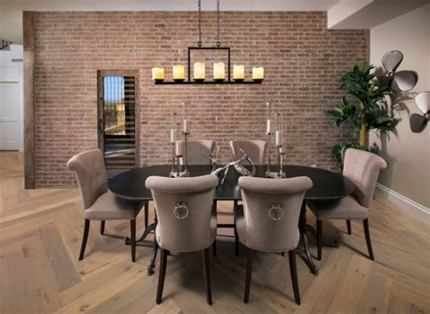 charming dining rooms  exposed brick wall