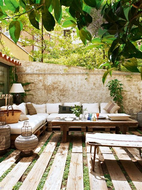 moderne terrasse rustikal gestalten mit ecksofa aus - Terrasse Rustikal
