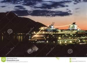 boat dealers juneau alaska cruise ship in juneau alaska harbor stock image