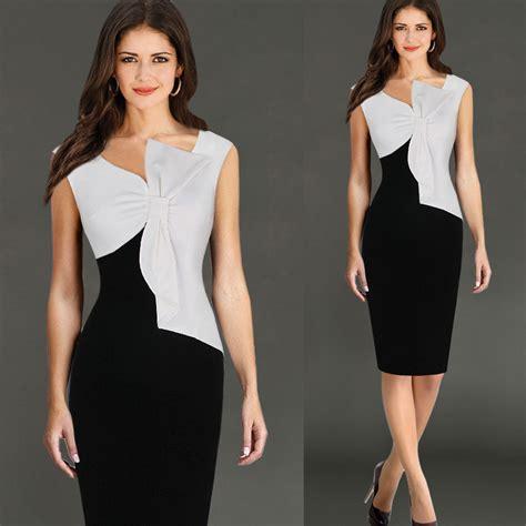 Import Mini Dres 2pcs 16 Slc black white stitching dress pansy back zipper