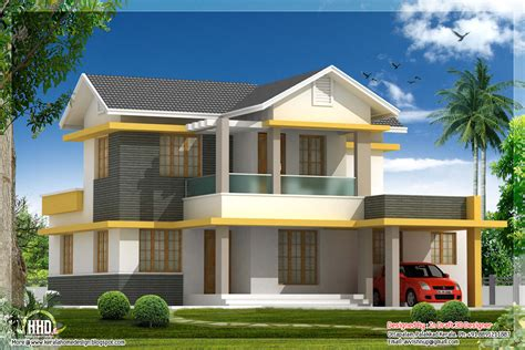 Home Designs Plans by Beautiful 4 Bedroom House Elevation In 1880 Sq Feet