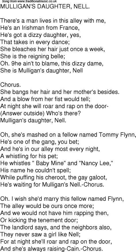 song rap time song lyrics for 10 mulligans nell