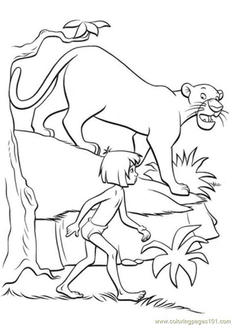 coloring pages the jungle book free coloring pages of mowgli