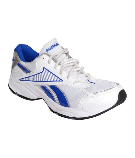 reebok white and blue sports shoes buy reebok white and