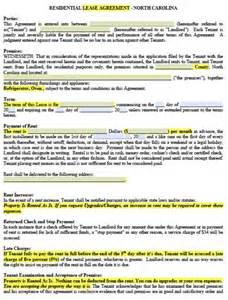 free north carolina residential lease agreement pdf