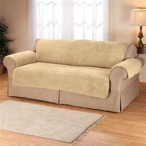Sofa Savers by Sherpa Sofa Protector By Oakridge Comforts Cover