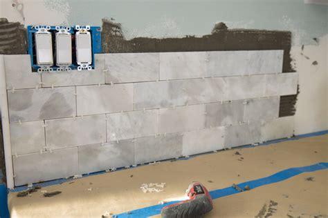 Diy Tile Kitchen Backsplash The Craft Patch Diy Marble Subway Tile Backsplash Tips