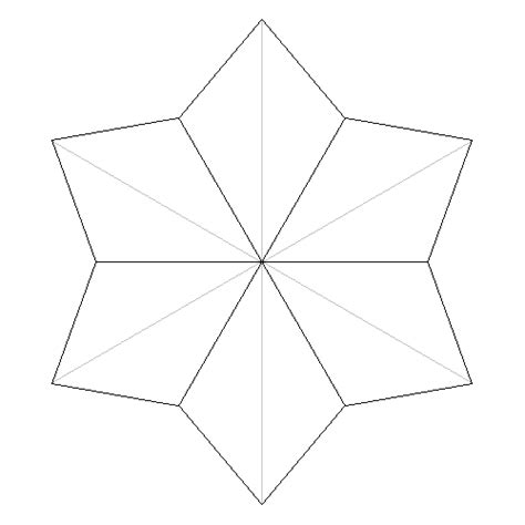 six pointed template 6 pointed