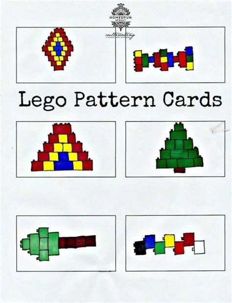 pattern building games lego pattern cards kids will love copying these lego