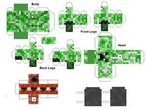 Minecraft Papercraft Mobs - paper crafts minecraft animals and mobs