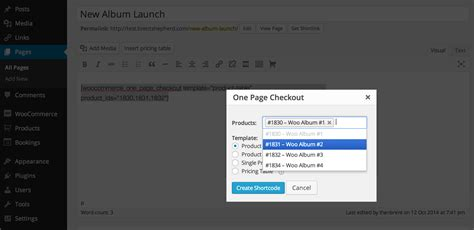 woocommerce page templates woocommerce one page checkout woocommerce