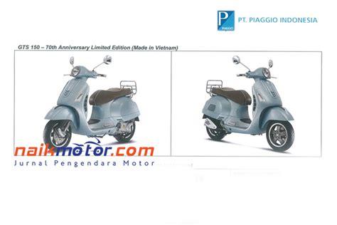 3 motor vespa edisi ulang tahun siap masuk indonesia harga lengkap vespa edisi 70 tahun