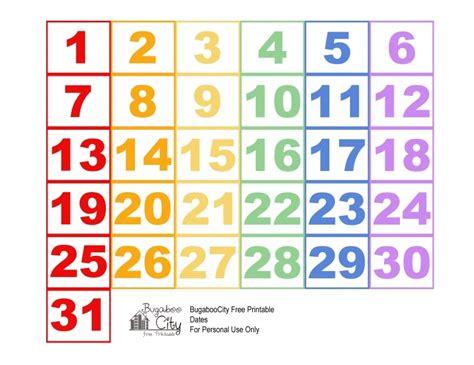 printable numbers 1 31 june calendar numbers printable free calendar template