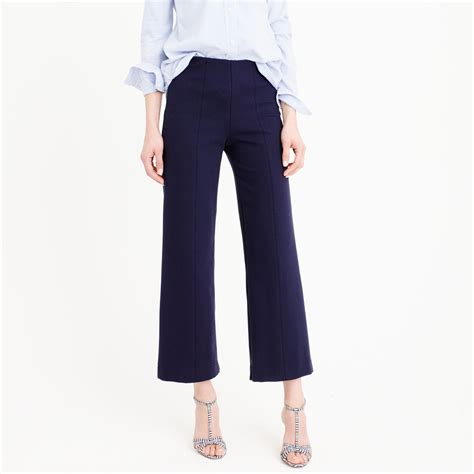 Gamis Casual Sailor Style Material Lacoste j crew wide leg ponte pant in blue lyst