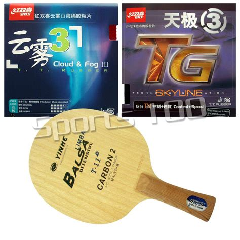 Blade Yinhe T 4s Fl pro combo racket galaxy yinhe t 11 blade with dhs skyline tg3 and cloud fog iii rubbers
