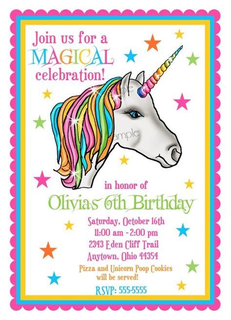 Unicorn Invitations Unicorn Birthday Party Invitations Unicorn Invitations Free Template