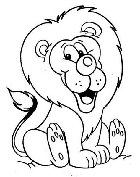 mewarnai gambar singa ayomewarnai
