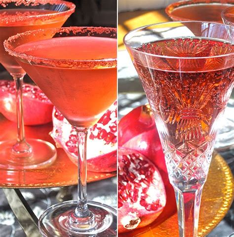 Happy Hour Pomtea Spritzer easy thanksgiving cocktail recipe pomegranate and