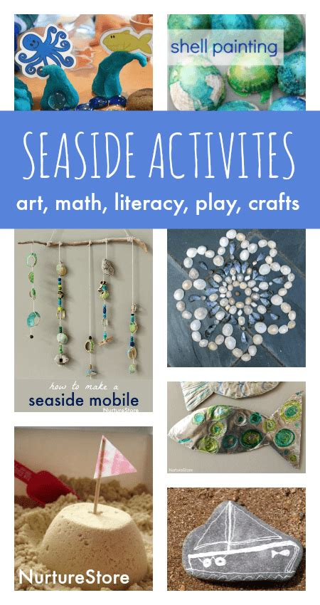 beach themed language arts activities seaside crafts and beach activities for kids nurturestore