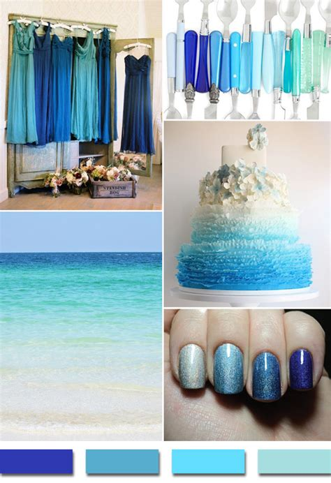 colour themes for beach wedding popular summer beach wedding color palettes 2014 trends