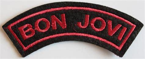 Patch Bon Jovi New Jersey bon jovi embroidered shoulder patch