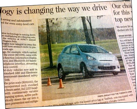 toronto star auto section toronto star comments on 2014 mirage technogy quot decent