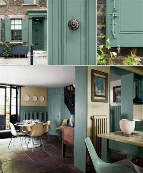 card room green interiors by color