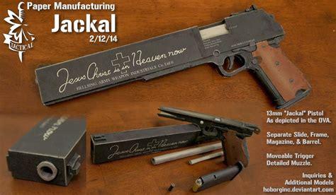 Pistol Papercraft - hellsing combat pistol jackal papercraft papercraft