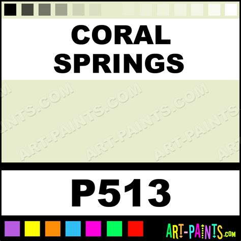 coral springs ultra ceramic ceramic porcelain paints p513 coral springs paint coral springs