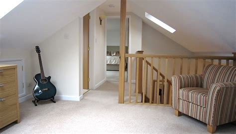 Detached Garage Plans by Loft Conversion Landing With Velux Rooflight In Cannock