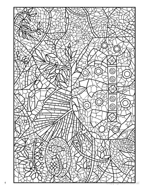 mosaic coloring books creative mosaic masterpieces coloring book dover