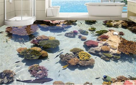 Epoxy Boden 3d by Bathroom Tile Floor Sticker With 3d Picture Pvc Materials