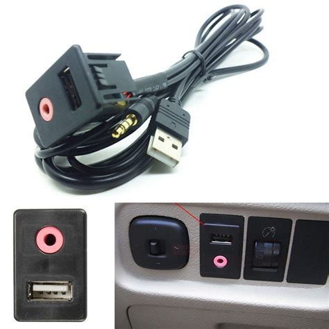 Car Aux Port Kit car suv dash audio 3 5mm usb aux headphone mounting adapter panel input kit ebay