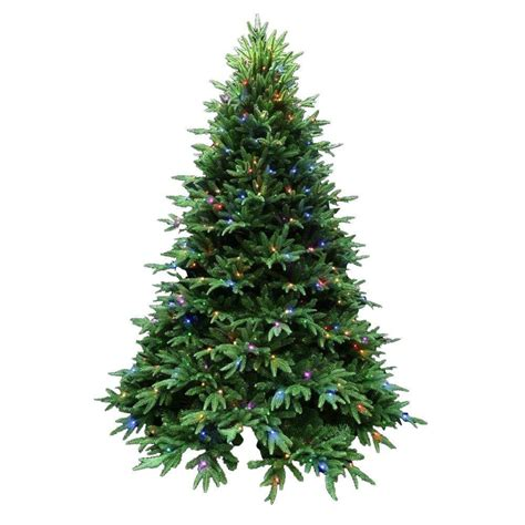 best artificial christmas trees santa s best 7 5 ft indoor pre lit led splendor spruce