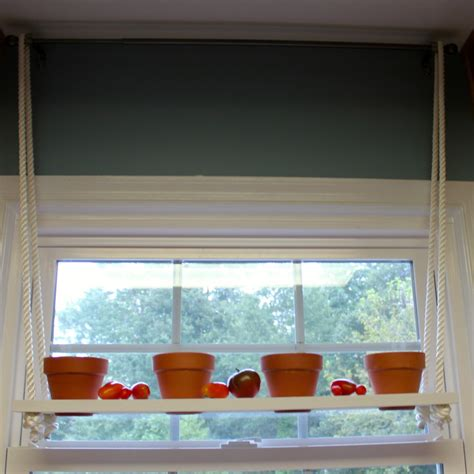 Hanging Window Plant Shelf by Hanging Plant Shelf