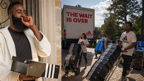 james harden house adidas delivers a truckload of sneakers to james harden s house