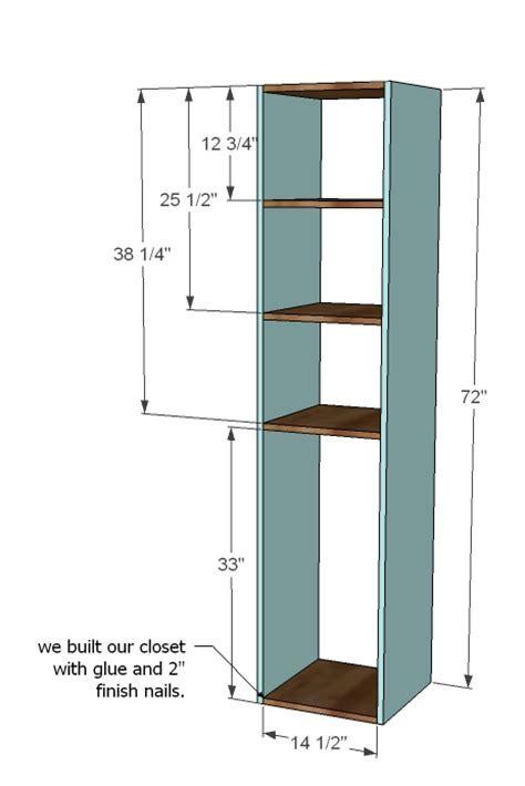 closet storage organizer woodworking plans   WoodShop Plans