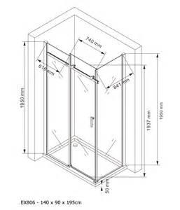 paroi de fixe et porte coulissante ex806 en verre
