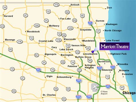 northwest suburbs chicago map directions the marriott theatre in lincolnshire