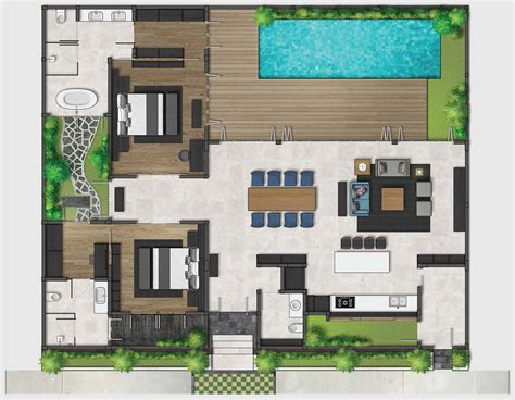 2 floor villa plan design two bedroom premium villas